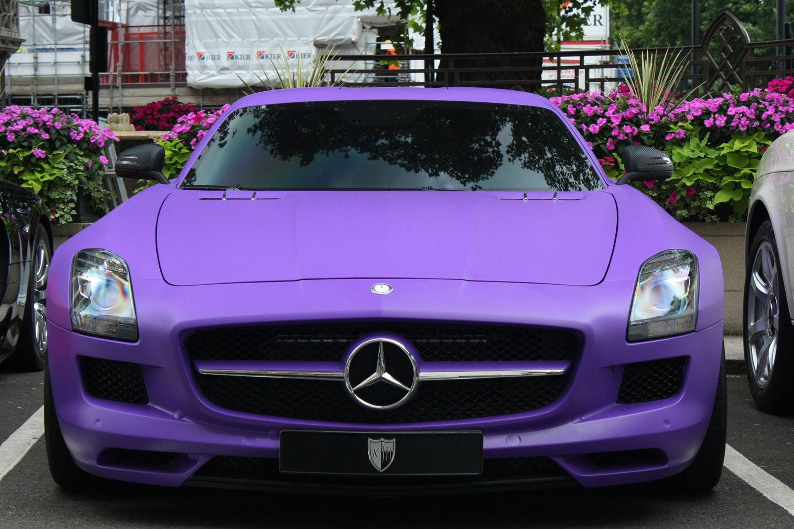 Mercedes Benz Sls Amg Matte Purple Only Cars And Cars
