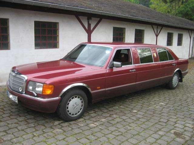 Mercedes benz w126 500 se pullmann by binz almadin red for Mercedes benz 500se