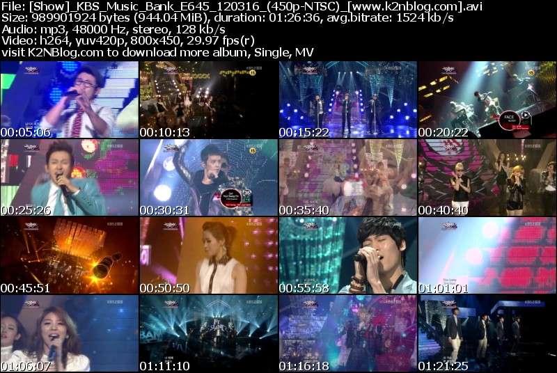 [Show] KBS Music Bank E645 120316