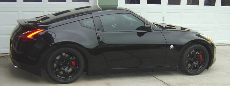 Anyone With Black 370 With Powder Coated Rims Nissan