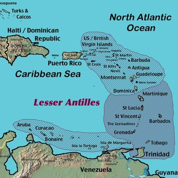 Dominica Caribbean Nature Paradise - Map of dominica caribbean sea