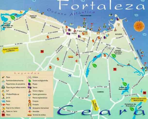 MAPAS TURSTICOS DE FORTALEZA  Turismo Fortaleza