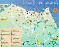 mapa de turismo em Fortaleza