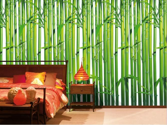 Bamboo forest wall mural photo wallpaper ebay for Bamboo forest mural