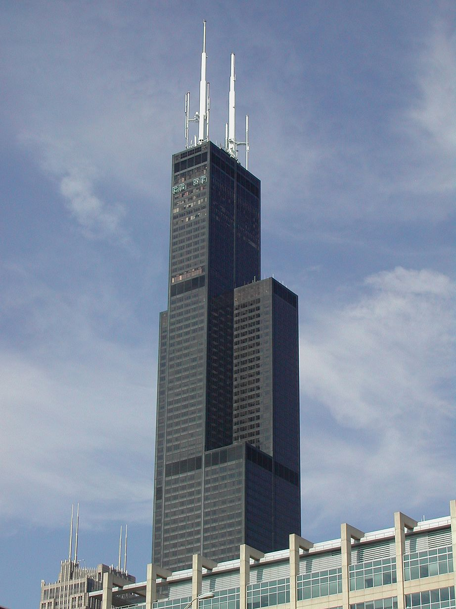 Chicago Willis Tower Formerly Sears Tower 1 451 Ft